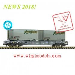 """Fleischmann 865242 - Carro pianale trasporto container tipo Sgns """"FATTORINI"""", SBB FFS (Cargo)"""