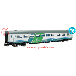 PIRATA 6014 - ACCONTO di PRENOTAZIONE - FS - carrozza self service Gran Confort, livrea XMPR, fascia verde, epoca V