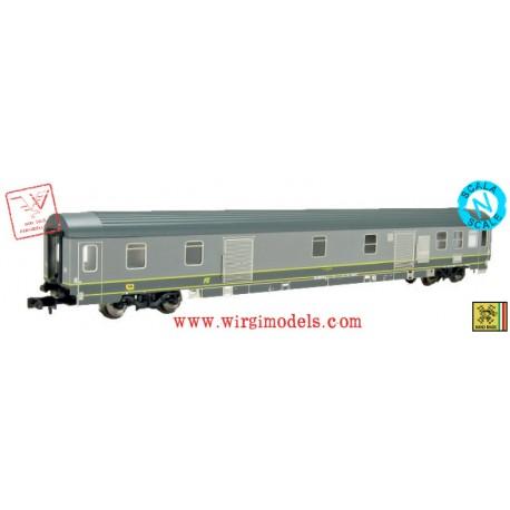 PIRATA 6020 - ACCONTO di PRENOTAZIONE - FS - bagagliaio tipo Z - livrea 2 toni di grigio, logo inclinato giallo, epoca IV