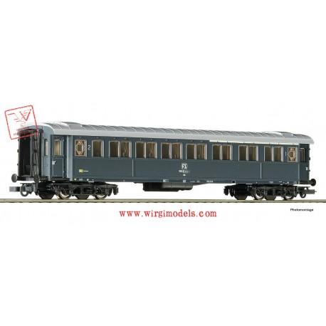 Roco 74601 - ACCONTO di PRENOTAZIONE - FS - Carrozza passeggeri di 1ae 2a classe, modello 1921, grigio ardesia.