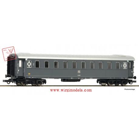 Roco 74602 - ACCONTO di PRENOTAZIONE - FS - Carrozza passeggeri di 2a classe, modello 1921, grigio ardesia.