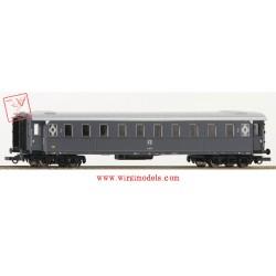 Roco 74603 - FS - Carrozza passeggeri di 2a classe, modello 1921, grigio ardesia.