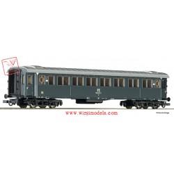 Roco 74604 - FS - Carrozza passeggeri di 2a classe, modello 1921, grigio ardesia.