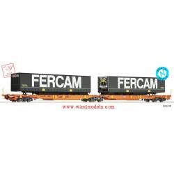 Fleischmann 825010 - Carro a doppia tasca articolato T2000, Wascosa.