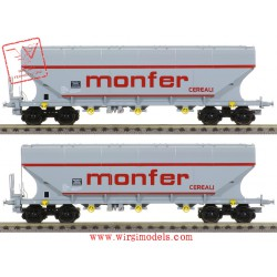 "B-models 45345 - Set-B due carri merci tipo uagpps ""MONFER CEREALI"", ep. V."