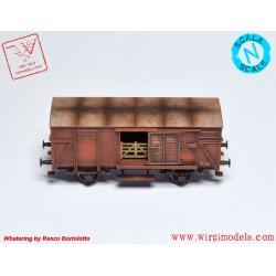 Fleischmann 836304 - Carro chiuso tipo F, FS. Elaborazione Wirgi Models.