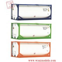 Roco 05216 - Set 3 pezzi tank container da 20 piedi