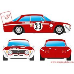"BRM107 - Alfa Romeo Giulia GTA 1300 Junior3rdDiv.1 4H Jarama1972 – 35 Autodeltacrew: Colzani, ""Pooky"", Venturi"