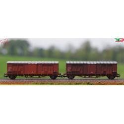 Roco 76164 - Set composto da 2 carri a tetto spiovente, FS