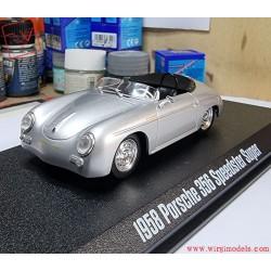 GREENLIGHT 86597 - 1957 Porsche 356 Speedster Super, metal light gray.