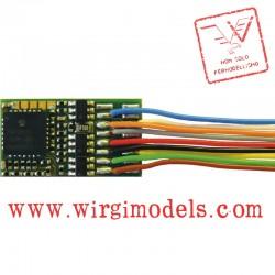 RC10894 - Decoder con capacità di retroazione, con fili e spinotto ad 8 poli (NEM 652)