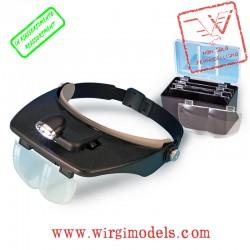 AL27054-1 - Occhiali dotati di lente di ingrandimento e punto luce a led